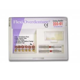 Flexi-Overdenture Zestaw uzupełniający (tytanowo-czerwone,rozmiar:01) 235-01 235-01