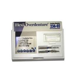 Flexi-Overdenture Refill Kit  Zestaw uzupełniający (metoda bezpodnia, tytanowo-niebieskie:rozmiar:02) 236-02