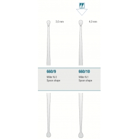 Łyżeczki zębodołowe Miller Spoon shape 660/10