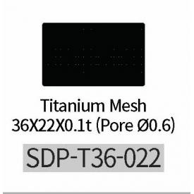 Titanium Mesh Pore średnica 0,6 (36mm*22mm)  Płytka tytanowa do kości